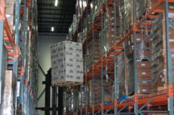 LED lighting retrofit Americold TX cold storage warehouse