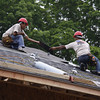Installation of DaVinci Slate Gray roofing tiles on Homes for Our Troops project home in New Jersey.