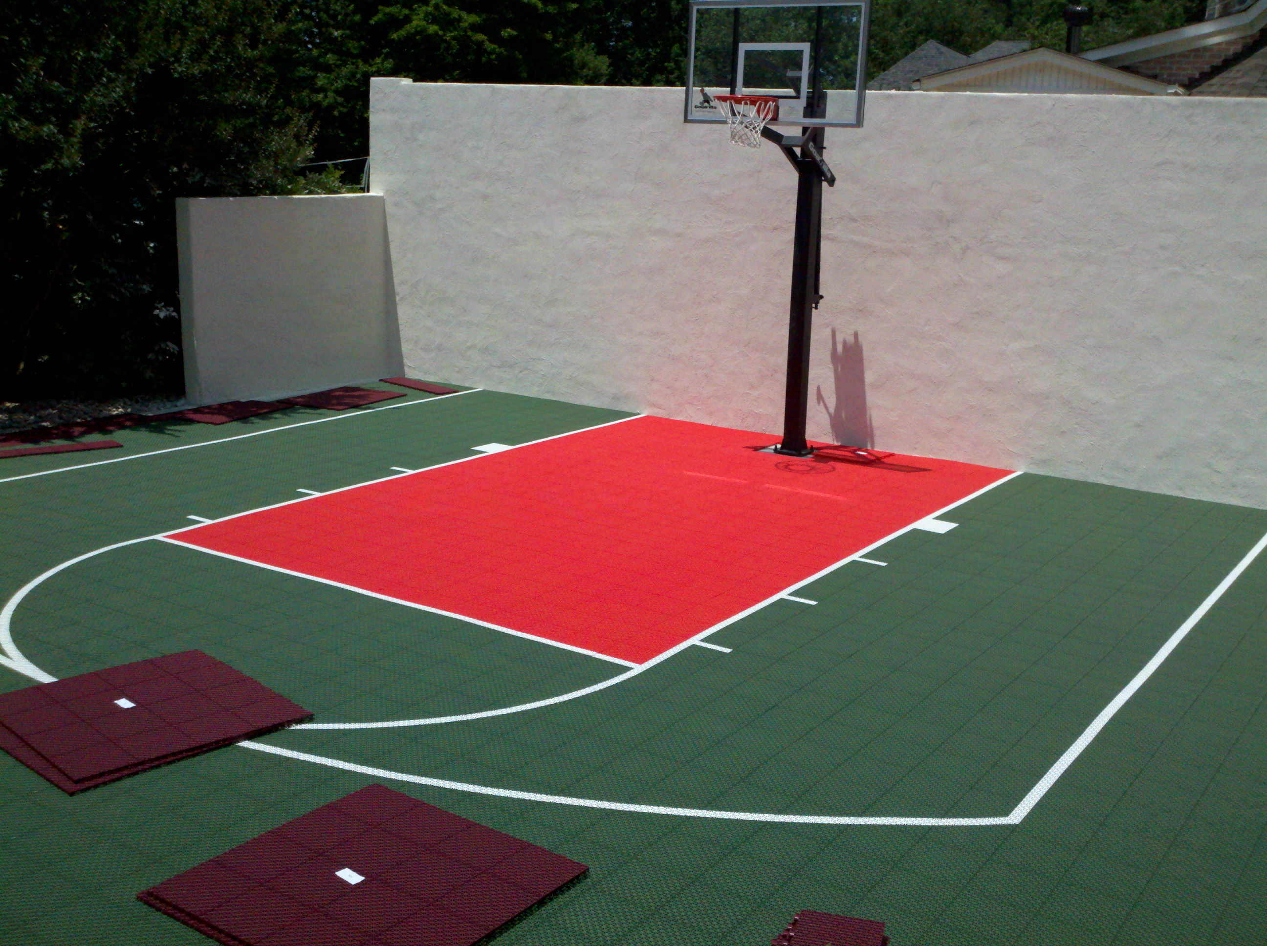 Outdoor Sport Tiles Athletic Surface Basketball Court