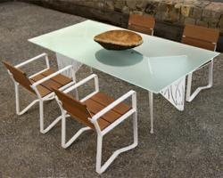 Windmark, a striking chair and table collection designed by award-winning architect, Margaret McCurry
