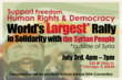 World's Largest Rally in Solidarity with the Syrian People (Official Flyer)