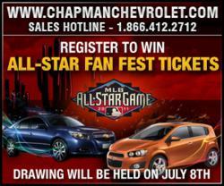 win allstar fanfest tickets from Chapman Chevrolet