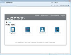 myDTT.com dashboard screenshot