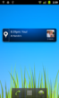 The home screen widget shows the latest nearby check-ins, and gives 2-click access to checking-in