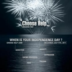 ChooseHelp.com 4th of July, Relaunch Poster