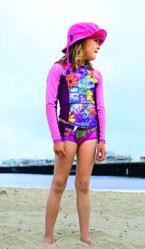 girls long sleeve rash guard swim top