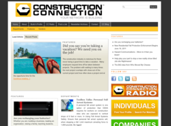 Website and blog for members of the construction community