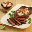 Lime N' Garlic Flank Steak with Creamy Pico de Gallo