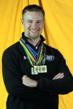 Matt Emmons proudly displays his medals won from 2010 ISSF World Cups and the World Championships.