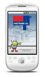 Mel Foster Co. iPhone and Android App Welcome Screen