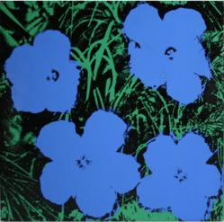 1978 Painting Flowers by Andy Warhol