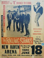 Rolling Stones Concert Poster New Haven June 1964