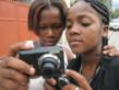 Haitian girls learn photography