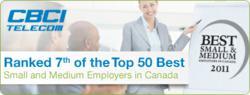 CBCI Telecom in Canada's Best Employers ranking