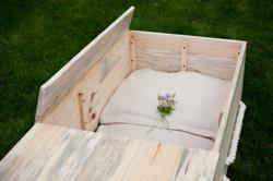 Northwoods Pine Casket with Natural Cotton Liner