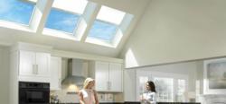 VELUX skylights in a kitchen delivering natural light