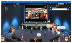 BrandEngage integration in 3D social game Smeet