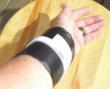 Wrap placed on a wrist
