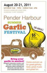 Pender Harbour Garlic Festival Sunshine Coast BC August 20 & 21 2011
