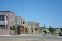 Green building in Oshara Village.