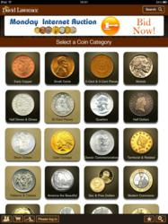 David Lawrence Rare Coins iPad app home screen