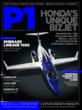 Front cover of the P1 Business Aviation ipad magazine