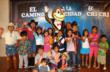 "Children were treated to photos with ""Cri Cri"" following the performances."