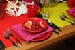 Oneida Picnic featuring Culinaria dinnerware and Stafford flatware.