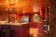 A customized Timber Block Insulated Log home. This kitchen was made for entertaining, with ample space. It's open to the dining and great room.