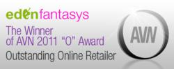EdenFantasys Wins AVN 'O Award' for Outstanding Online Retailer