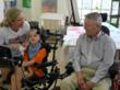 wheelchair art project connects children with disabilities and retirement home residents