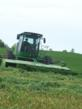 Mowing Bio-Forge treated alfalfa in Northern Wisconsin