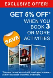 Exclusive Offer! 5% off for 3 or more tours on City-Discovery.com