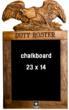 Duty Roster chalkboard with U.S. Army trademark