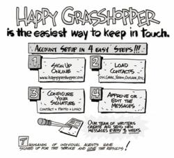 Happy Grasshopper's email marketing service is the easiest way to keep in touch.