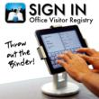 compact, sleek, elegant - a Visitor registry for any office
