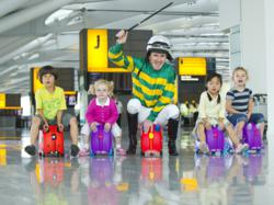 AP McCoy gears up for the first ever Trunki race!