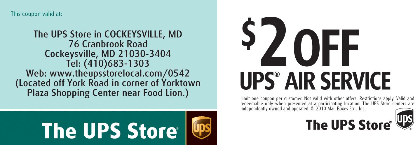 Ups store shipping coupons