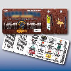 Tele-Pak Fundraising Cards -- wallet card with two key tags