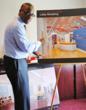 Erik Clemons, Exec. Director of CONNCAT demonstrates new lobby renderings