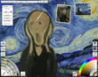 Starry Night van Gogh, Scream Edvard Munch, reference images, layers, recording playback