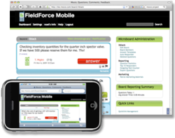 Mosio's FieldForce Mobile - Two Way Text Messaging Software for Mobile Workers