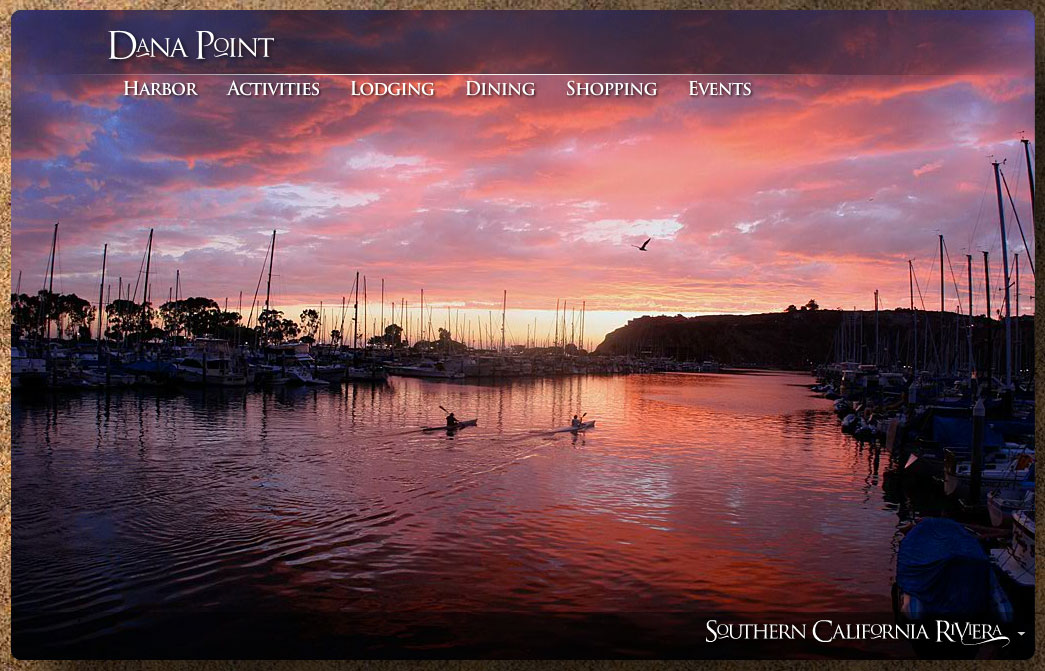 New website launched to promote travel and tourism to dana for Dana point harbor fishing