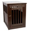 Mahogany End Table Pet Crate