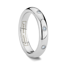 3 Diamond Women's Tungsten Wedding Band: the BELLA