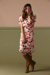 modest dress polka dot