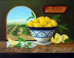 Chula Vista Centennial Celebration on October 15, 2011 at the Olympic Training Center - Chula Vista, CA. Painting of The Lemon City by Katarzyna Lappin