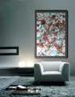 Abstract print in a lounge