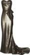 Opposite:: Marchesa Draped Lame Gown - £5,065 (Now available at www.net-a-porter.com)