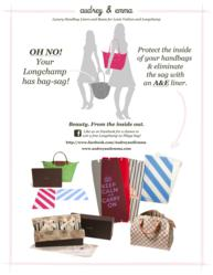 Audrey & Emma Fights Bag-Sag & Protects The Inside Of Luxury Handbags